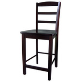 Madrid Counterheight Stool - 24'' Seat Height in Rich Mocha