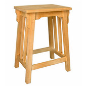 Counter Height Mission Bar Stool, Unfinished