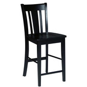 San Remo Counterheight Stool - 24'' Seat Height in Black