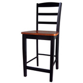 Madrid Counterheight Stool - 24'' Seat Height in Black / Cherry