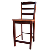 Madrid Counterheight Stool - 24'' Seat Height in Cinnemon/Espresso