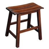 18'' Slat Seat Stool, RTA, 17-1/2'' W x 13-2/5'' D x 18-2/5'' H, Espresso