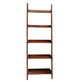 25-3/5'' W x 14'' D x 75-1/2'' H Lean to Shelf Unit with 5 Shelves, Espresso