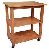 Microwave Cart in Medium Oak, 26'' W x 17'' D x 30''H