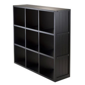 Shelf 3 x 3 Cube Wainscoting Panel in Black