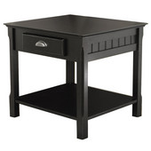 Timber End Table, Black finish