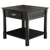 Timber End Table, Black finish