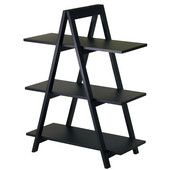 A-Frame Shelf Unit in Black with 3 Shelves