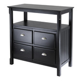 Timber Buffet Table with Two Doors, Black