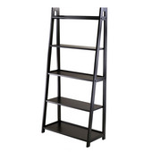 WS-20513, Adam 5-Tier A-Frame Shelf , Black, 27.87'' W x 12.99'' D x 58.03'' H