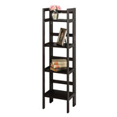 Four-Tier Folding Shelf, Black