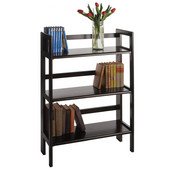 Stackable Three Tier Folding Shelf in Black