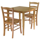 Groveland 3-Pc. Dining Set, Square Table with 2 Chairs, Light Oak