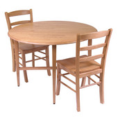 Winsome - Drop Leaf Table w/ 2 Ladder Back Chairs