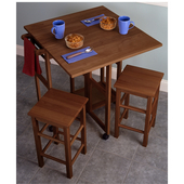 Square Spacesaver 3-Pc. Set, Includes Drop Leaf Table & 2 Stools