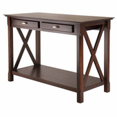Xola Console Table with 2 Drawers, Cappucino Finish