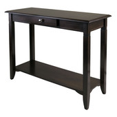WS-40640, Nolan Console Table with Drawer, Cappuccino, 40'' W x 15.98'' D x 30'' H