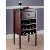Orleans Modular Buffet with Drawer, 12-Bottle Wine Rack, Cappuccino , 17-11/16''W x 16-5/16''D x 35-7/16''H