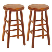 24'' Swivel Seat Bar Stool in Heritage Cherry Finish