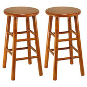 24'' Bar Stool with Bevel Seat in Heritage Cherry Finish
