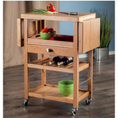 Barton Collection Kitchen Cart in Natural, 23-3/5'' W x 15-5/32'' D x 35-7/16'' H