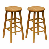 24'' Bar Stool in Solid Beechwood
