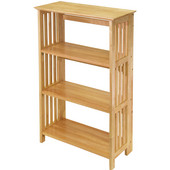 Beechwood Constructed Foldable Shelf in Natural Finish