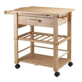 Finland Kitchen Cart in Natural, 35''W x 20-1/2''D x 31-1/2''H