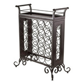 Silvano Wine Rack 5x5 with Removable Tray, Dark Bronze in Dark Bronze