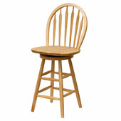 Winsome - 24'' Windsor Swivel Stool, Beech