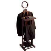 Valet Stand with Mirror in Espresso Finish 20'' W x 14-3/4'' D x 54'' H