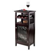 Alta Wine Cabinet in Espresso, 19-1/8''W x 12-3/4''D x 37-1/2''H