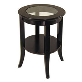 Genoa End Table in Espresso Finish 18-1/2''W x 18-1/2''D x 22-9/16''H