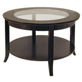 Genoa Coffee Table in Espresso Finish 30''W x 30''D x 18''H