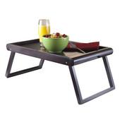 Elise Bed Tray U-Leg, Dark Espresso, 26-3/8''W x 13-5/8''D x 9-1/4''H