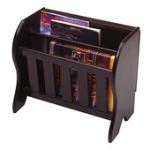 Drop Leaf Magazine Rack Table in Dark Espresso