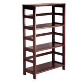 3-Section Storage Shelf in Espresso without Baskets 25.25''W x 11.25''D x 42''H