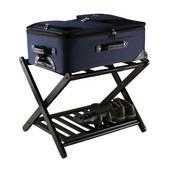 WS-92436, Reese Luggage Rack with Shelf, Dark Espresso, 26.54'' W x 18.66'' D x 20'' H