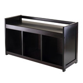 WS-92439, Addison Storage Bench with 3-Section, Dark Espresso, 37.40'' W x 13.39'' D x 20.87'' H