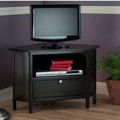 Zena Corner TV Stand, Espresso, 34-11/16''W x 24''D x 22-5/16''H