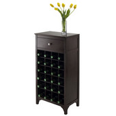 WS-92738, Ancona Modular Wine Cabinet with One Drawer & 24-Bottle, Dark Espresso, 19.09'' W x 12.6'' D x 37.52'' H