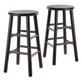 Winsome - 24'' Bevel Seat Stools, Espresso
