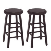 24'' Swivel Bar Stool, Set of 2