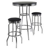 Summit 3-Pc. Pub Table Set, Includes Table & 2 Swivel Stools
