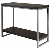 Jared Console Table with Enamel Steel Tube Legs, Black Finish