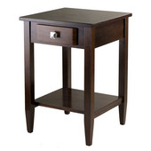 WS-94118, Richmond End Table Tapered Leg, Antique Walnut, 17.95'' W x 18.68'' D x 25.98'' H
