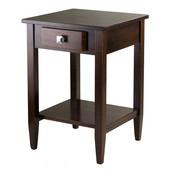 WS-94118, Richmond End Table Tapered Leg, Antique Walnut, 17.95'' W x 18.68'' D x 25.98'' H