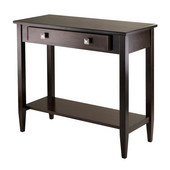 WS-94136, Richmond Console Hall Table Tapered Leg, Antique Walnut, 33.98'' W x 15.69'' D x 29.92'' H