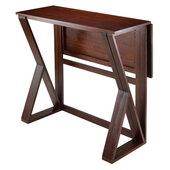 Harrington Drop Leaf High Table, Antique Walnut Finish, 39-3/8''W x 31-1/2''D x 36-1/4''H