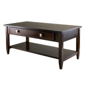 WS-94140, Richmond Coffee Table Tapered Leg, Antique Walnut, 40'' W x 20.53'' D x 18.11'' H